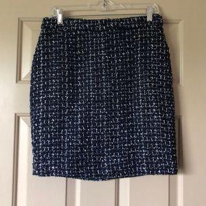 JCrew Blue Tweed Pencil Skirt - 8P